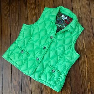 Talbots puff vest